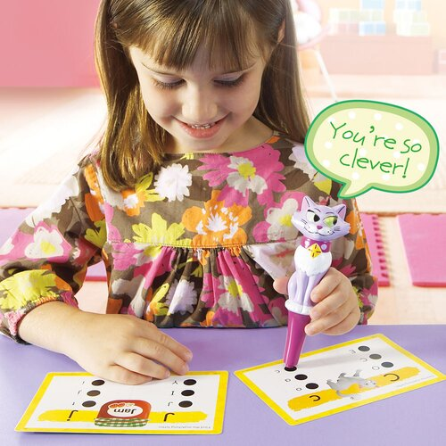 Educational Insights Kat - The Talking, Teaching Kitty Pen For Hot Dots Jr.