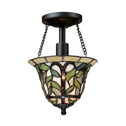 Landmark Lighting Latham 1 Light Semi Flush Mount