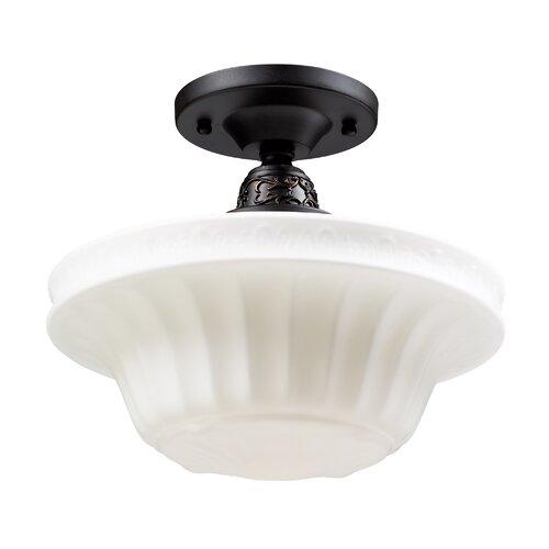 Landmark Lighting Quinton Parlor 1 Light Semi-Flush Light