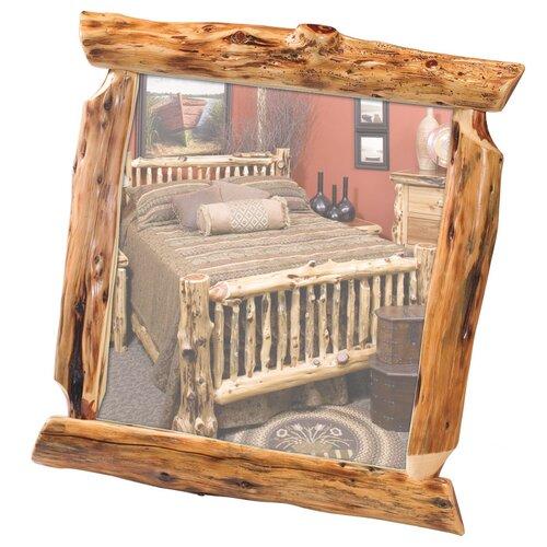 Traditional Cedar Log Wall Mirror