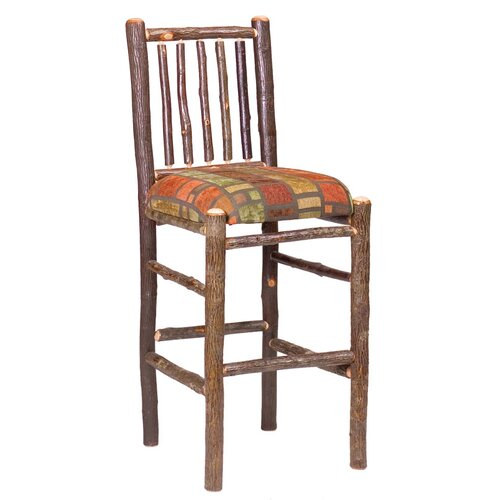 "Fireside Lodge Hickory 30"" Bar Stool"