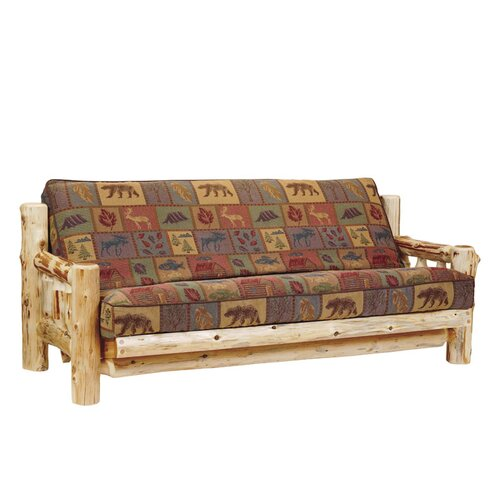 Traditional Cedar Log Futon and Mattress