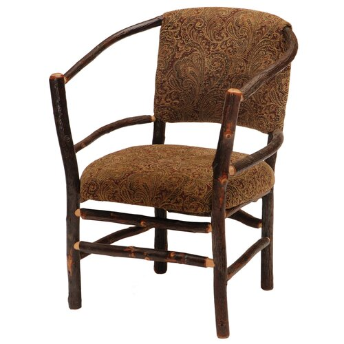 Fireside Lodge Hickory Hoop Fabric Arm Chair