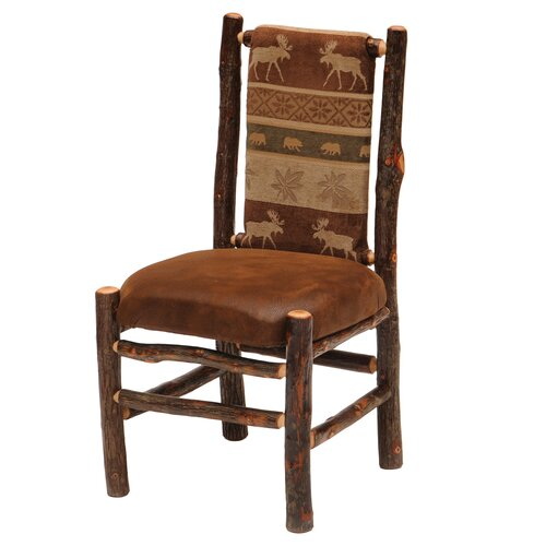 Fireside Lodge Hickory Back Fabric Side Chair
