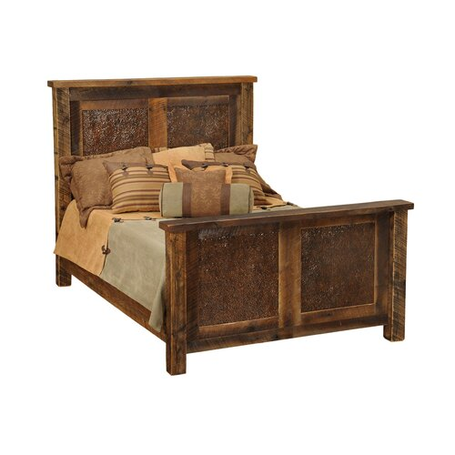 Fireside Lodge Barnwood Inset Panel Bed