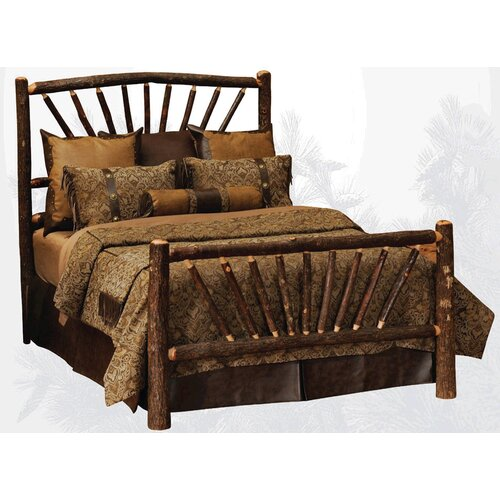Fireside Lodge Hickory Sunburst Slat Bed