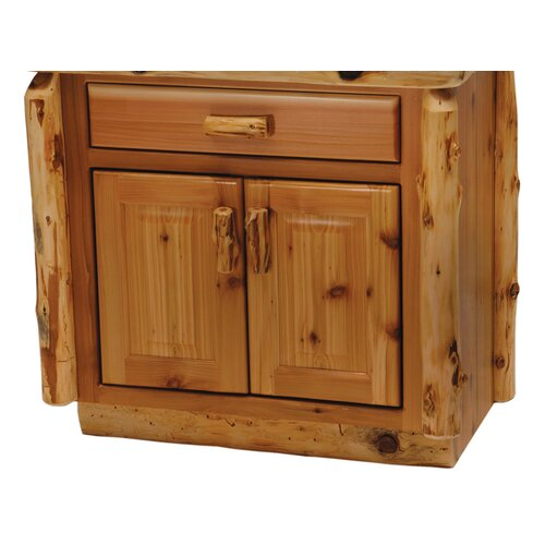 "Fireside Lodge Traditional Cedar Log 30"" Bathroom Vanity Base"