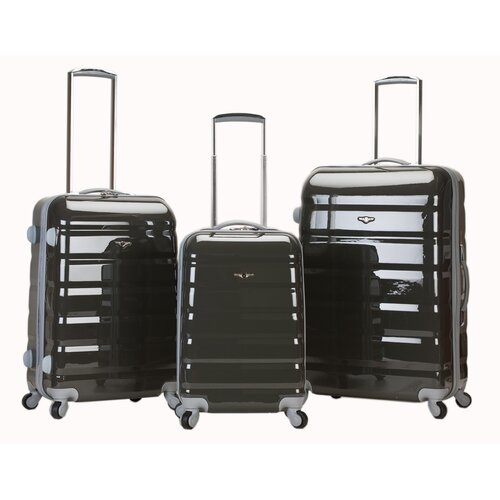 Atlantis 3 Piece Polycarbonate/ABS Luggage Set