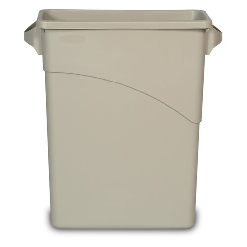 Rubbermaid Slim Jim 15.88-Gal. Rectangle Waste Container with Handle
