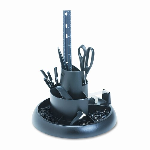 Rubbermaid Rotary Desk Organizer with Supplies