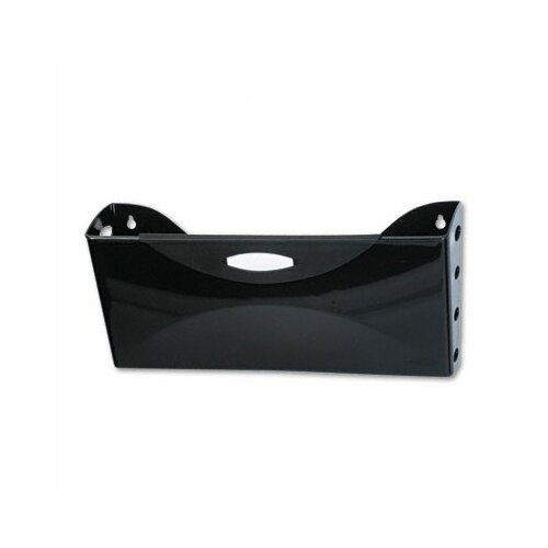 Rubbermaid Ultra Hot File Single Pocket Wall File, Legal, Black
