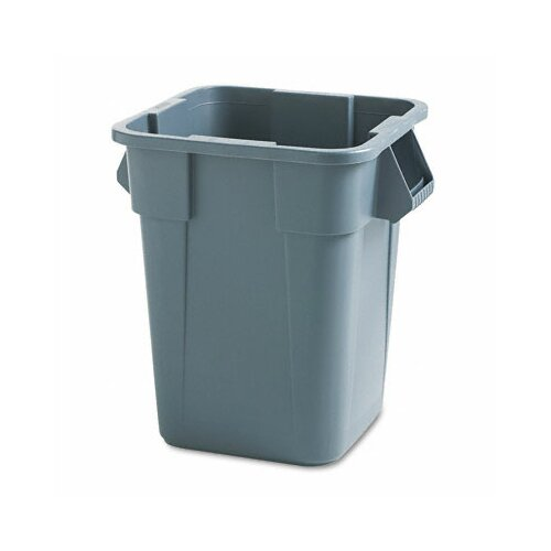 Rubbermaid Brute Container, Square, Polyethylene, 40gal, Gray