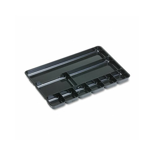 Rubbermaid Regeneration 9-Section Drwr Organizer, Plastic, Black