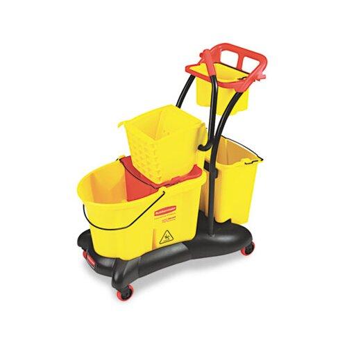 Rubbermaid Commercial Wavebrake 35-qt. Mopping Trolley Side Press