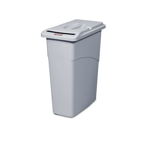 Rubbermaid Slim Jim® Confidential Document Waste 23-Gal. Rectangular Wastebast with Lid