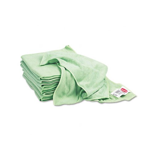 Rubbermaid Commercial Reusable Cleaning Cloths, Microfiber, 16 X 16, 12/Carton