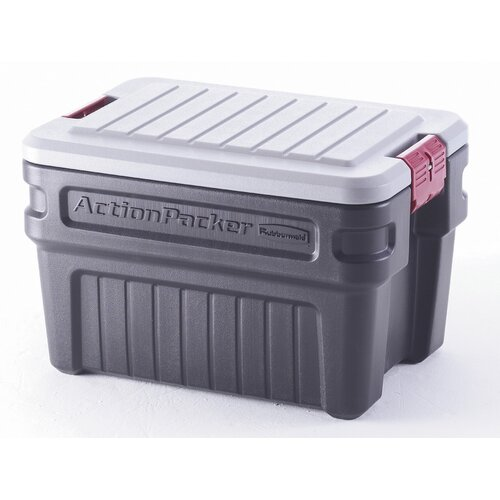 Rubbermaid 24 Gallon ActionPacker Storage Container in Black