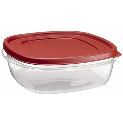 Rubbermaid 9 Cup Easy Find Square Container with Lid