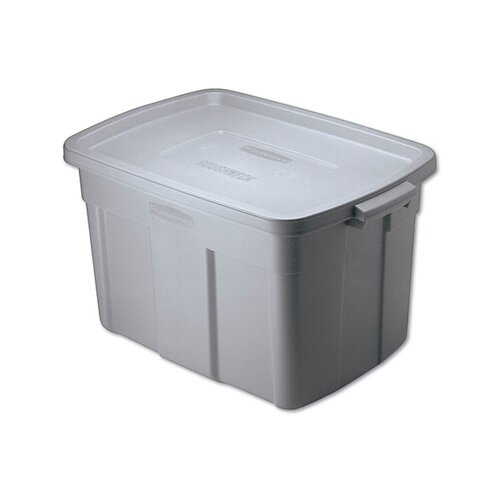 Rubbermaid Roughneck Storage Box in Steel Gray