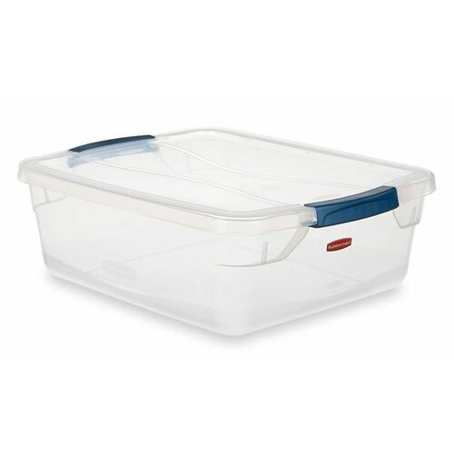 Rubbermaid Clever Store Basic Latch Container in Clear