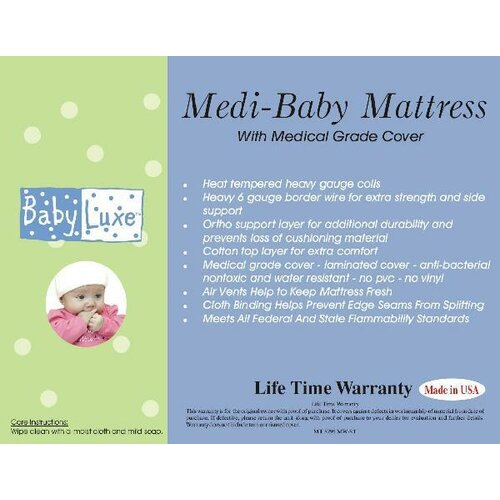 Baby Luxe by Priva Medi-Baby Mattress