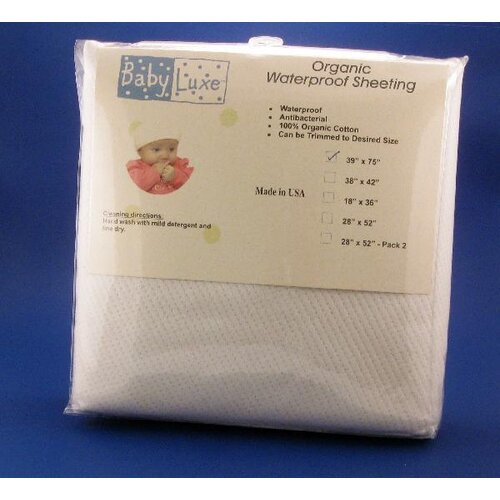 Baby Luxe by Priva Organic Waterproof Sheeting