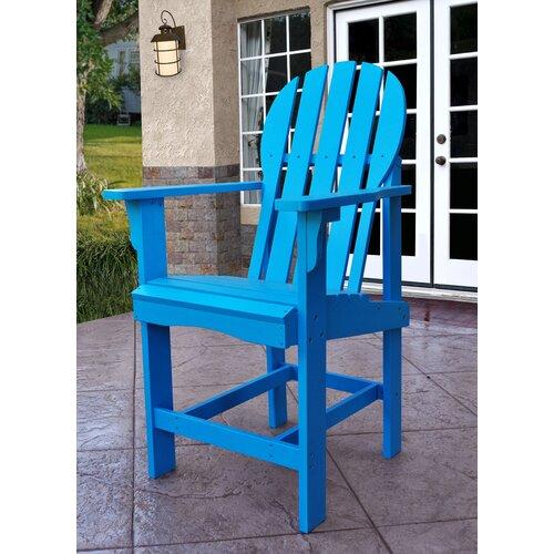 Shine Company Inc Captiva Counter Height Adirondack Chair