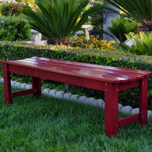 Shine Company Inc. Wood Picnic Bench