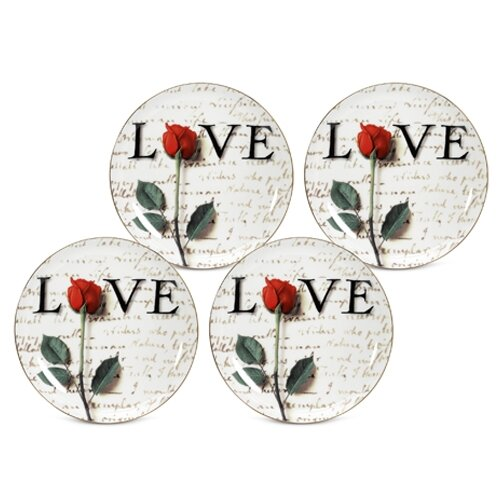 "PS Collection Love Letters 8"" Dessert / Salad Plate"