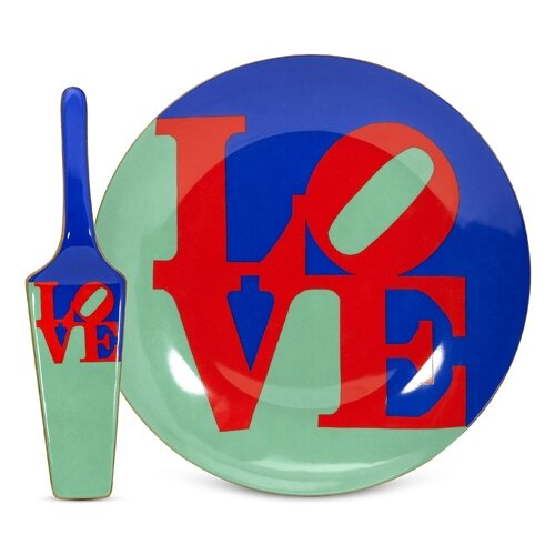 PS Collection Robert Indiana Love Cake Plate and Server
