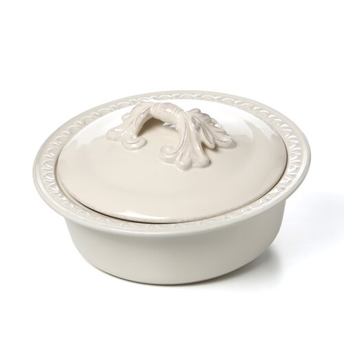 Firenze Ivory Round Baker with Lid by Pamela Gladding