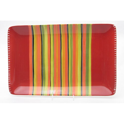 "Certified International Hot Tamale 19.5"" Rectangular Platter"