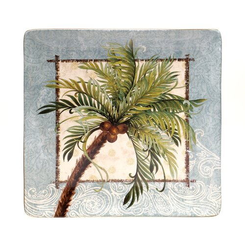 "Certified International Key West 12.5"" Square Platter"