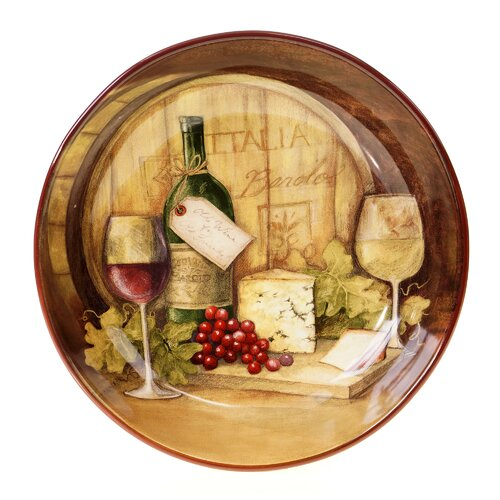 "Certified International Wine Map 13.25"" Pasta Serving Bowl"