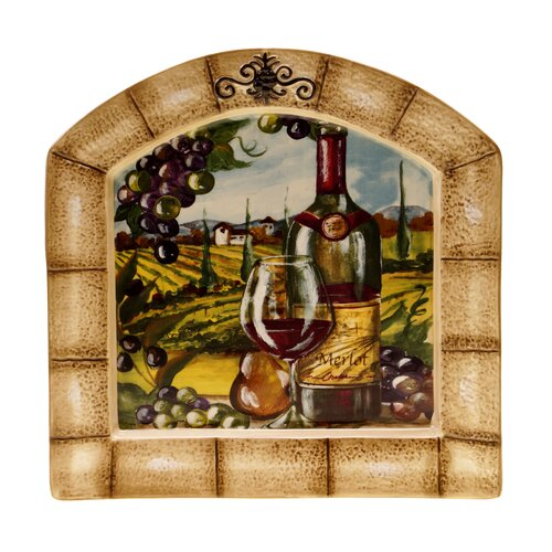 """Certified International Tuscan View 13"""" Arched Platter"""