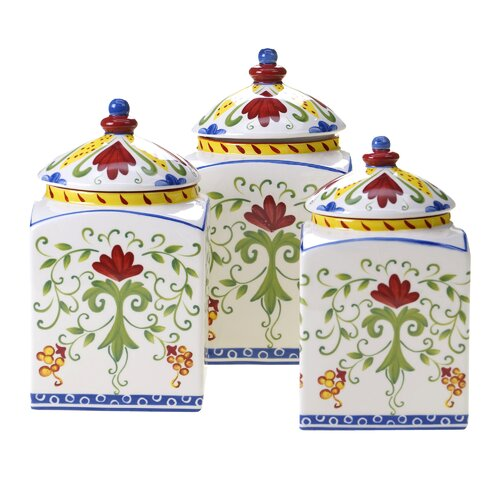 Certified International Amalfi 3 Piece Canister Set
