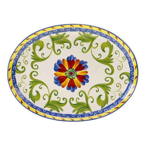 "Certified International Amalfi 18"" Oval Platter"
