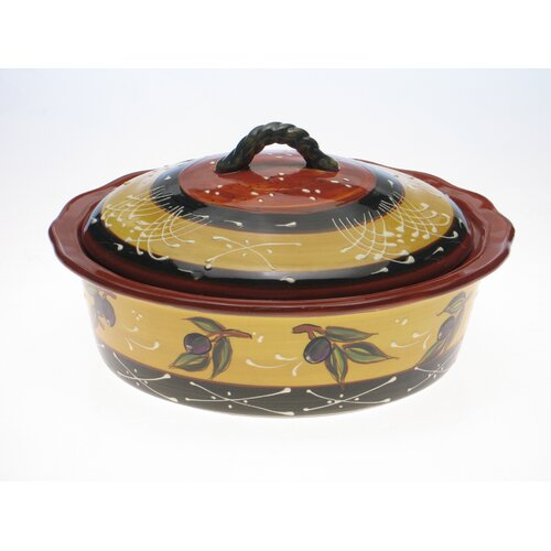 Certified International French Olives Round Baker with Lid