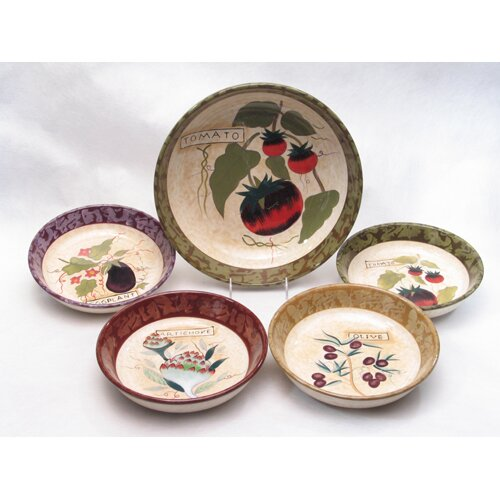 Certified International Siena by Susan Winget 5 Piece Pasta Set