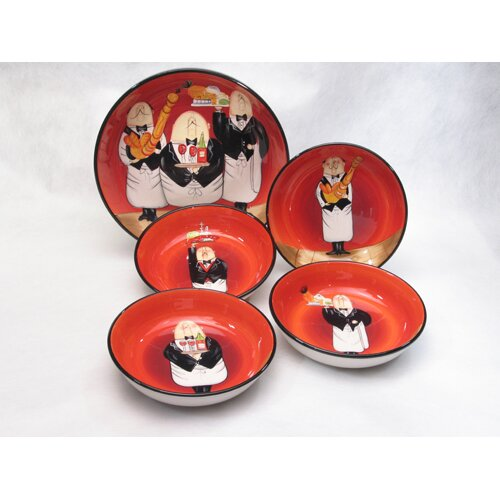 Certified International Waiters by Tracy Flickinger 5 Piece Pasta Set