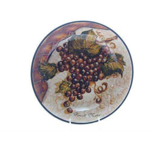 "Certified International Wine Cellar by Tre Studios 13.5"" Pasta / Serving Bowl"