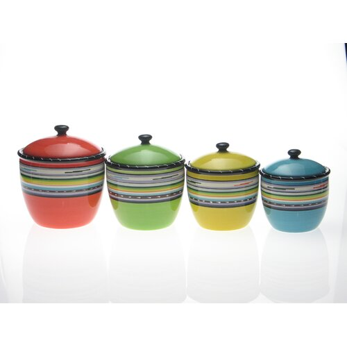Santa Fe by Nancy Green 4 Piece Canister