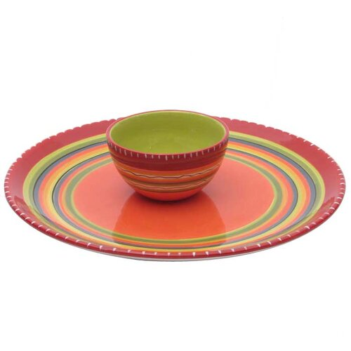 Certified International Hot Tamale Chip and Dip Set