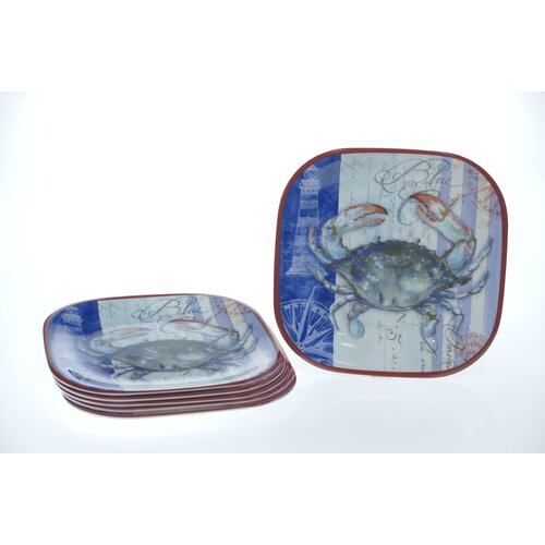 "Certified International Blue Crab by Geoff Allen 10.5"" Plate"