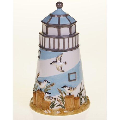 Beach Cottage 3-D Cookie Jar