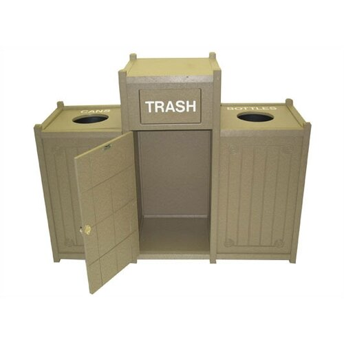 Eagle One 66 Gallon Multi Compartment Recycling Bin