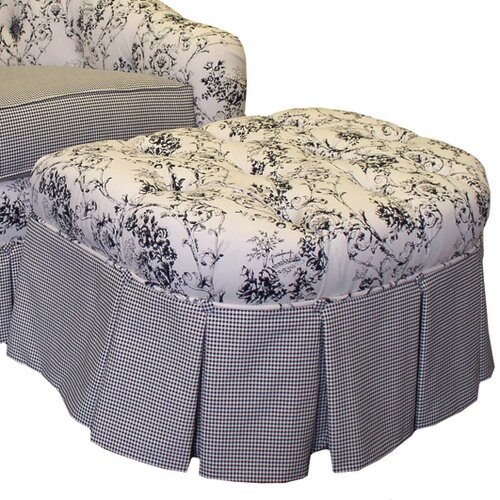 Toile Black Adult Empire Ottoman