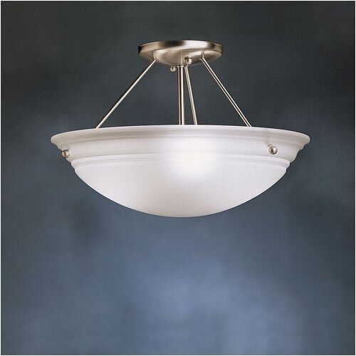 "Kichler Norwich 10"" 3 Light Semi Flush Mount"