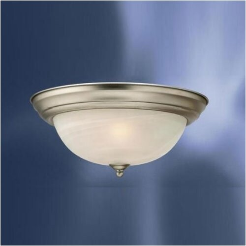Kichler Umber Etched Large 2 Light Flush Mount