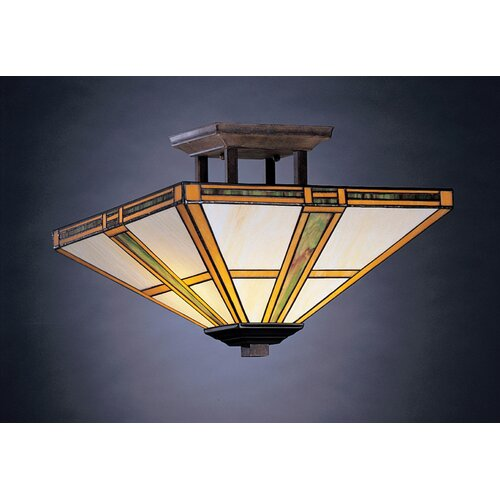 Kichler Oak Park 2 Light Semi Flush Mount